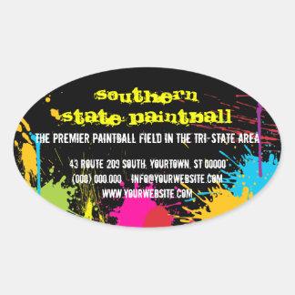 Pegatina promocional del negocio de Paintball