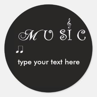 Pegatina promocional del sobre de la música