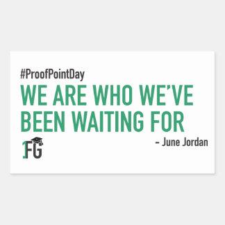 Pegatina #ProofPointDay de June Jordan