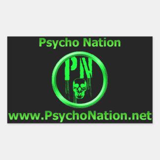 Pegatina psico de la nación
