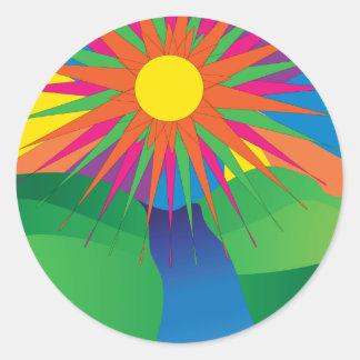 Pegatina psicodélico de Sun
