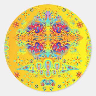 Pegatina psicodélico del cráneo