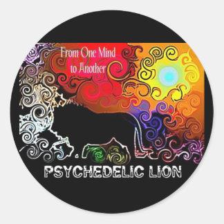 Pegatina psicodélico del león