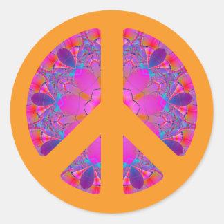 Pegatina psicodélico del símbolo de paz