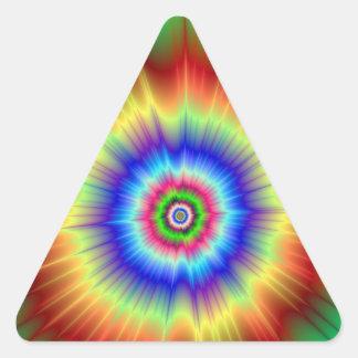 Pegatina psicodélico del triángulo de la explosión
