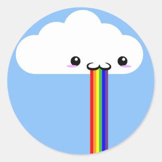 Pegatina Puking del arco iris de la nube