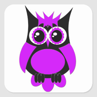 Pegatina punky púrpura del búho
