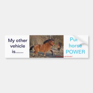Pegatina puro del poder de caballo etiqueta de parachoque