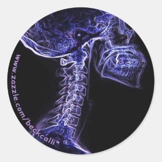 Pegatina púrpura/azul de la C-espina dorsal