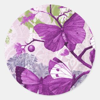 Pegatina púrpura bonito de la mariposa