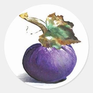 Pegatina púrpura de la calabaza