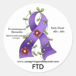 Pegatina púrpura de la cinta de FTD