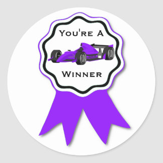 Pegatina púrpura de la cinta del coche de carreras