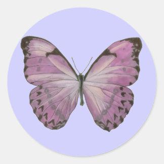 Pegatina púrpura de la mariposa