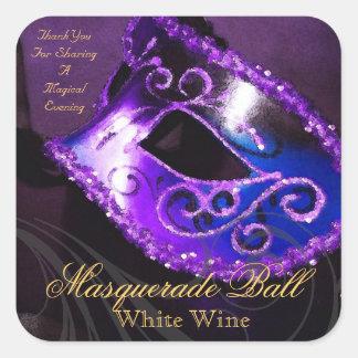 Pegatina púrpura de la mascarada de la tarde