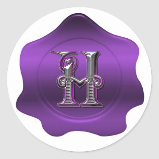 Pegatina púrpura de la mirada del sello de la cera