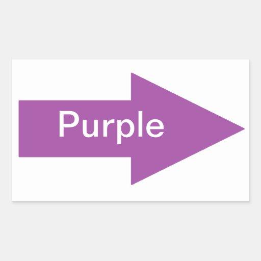 Pegatina púrpura de la muestra de la flecha