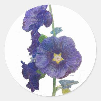 Pegatina púrpura de los Hollyhocks