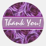 Pegatina púrpura de los rosas