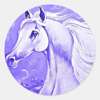 Pegatina púrpura del caballo
