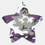 Pegatina púrpura del camuflaje
