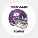 Pegatina púrpura del casco de fútbol americano de