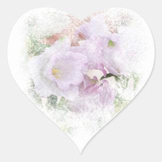 Pegatina púrpura del corazón de Cantorbery Belces