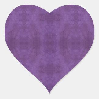 Pegatina púrpura del corazón del batik