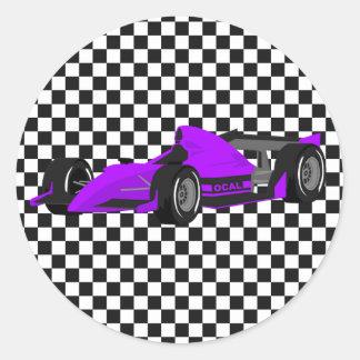 Pegatina púrpura del cumpleaños del coche de