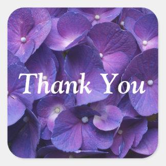 Pegatina púrpura del Hydrangea de Viollet gracias