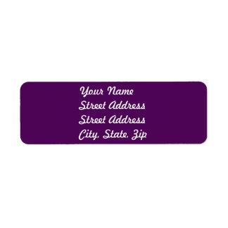 Pegatina púrpura del remite del ciruelo etiqueta de remitente