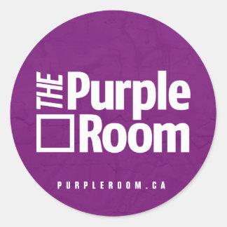 Pegatina púrpura del sitio