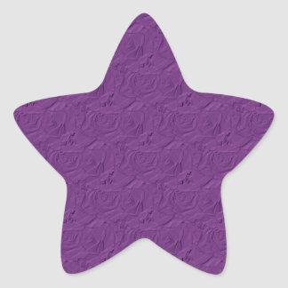 Pegatina púrpura grabado en relieve de la estrella