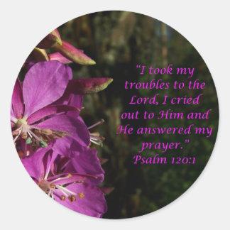 Pegatina púrpura precioso de la flor del 120 1 del