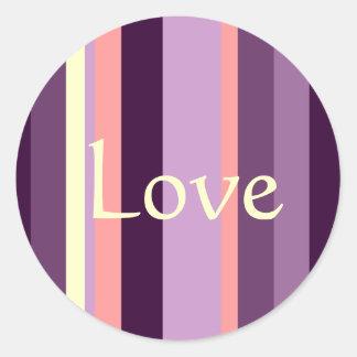 Pegatina púrpura rosado del boda del sello del sob