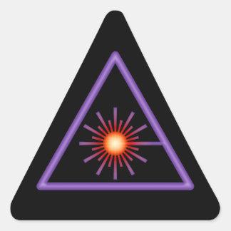 Pegatina púrpura y anaranjado de la advertencia de