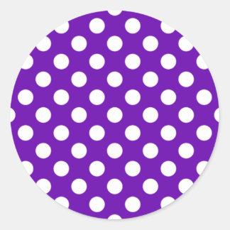 Pegatina púrpura y blanco del lunar