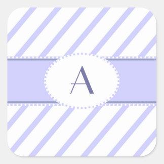 Pegatina púrpura y blanco del monograma