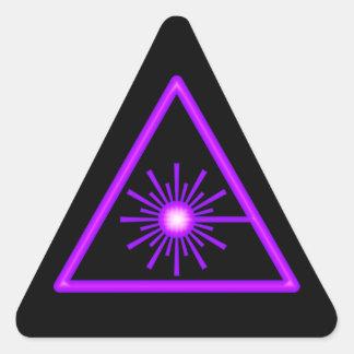 Pegatina púrpura y negro del símbolo del laser