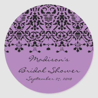 Pegatina púrpura y negro elegante de la ducha de