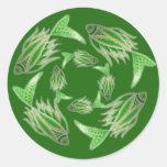 Pegatina que circunda de los pescados verdes