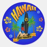 Pegatina que practica surf de Hawaii