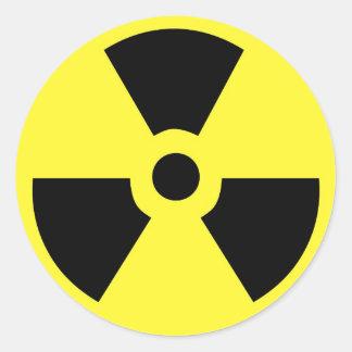 Pegatina radiactivo