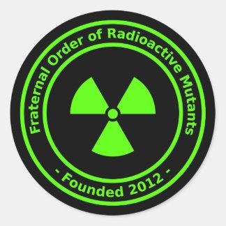 Pegatina radiactivo de los mutantes