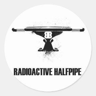 Pegatina radiactivo del logotipo del camión del
