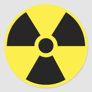 Pegatina radiactivo del símbolo