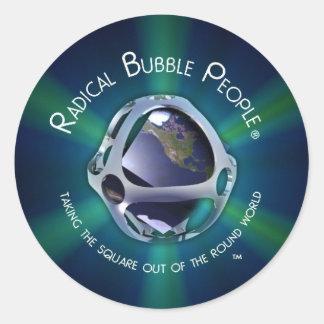 Pegatina radical de la burbuja