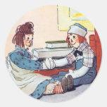 Pegatina Raggedy de Ana y de Andy