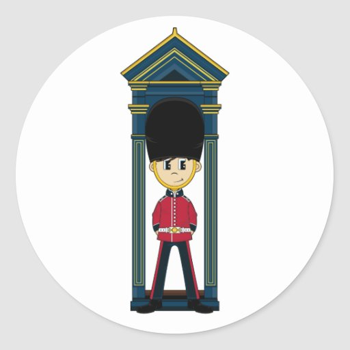 Pegatina real británico del guardia
