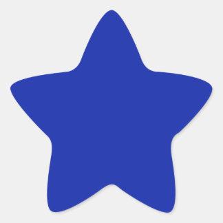 Pegatina real de la estrella azul